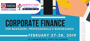 "หลักสูตรอบรม ""Corporate Finance for Managers, Professionals and Businessmen"""